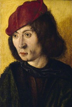 Portrait Bust of a Young Man in a Red Cap | Master of the Saint Bartholomew Altarpiece | Oil Painting
