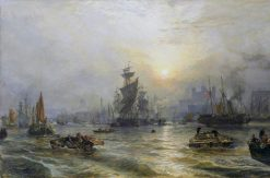 The Port of London | Samuel Bough | Oil Painting