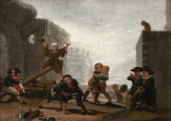 Boys Playing at See-Saw | Francisco de Goya y Lucientes | Oil Painting