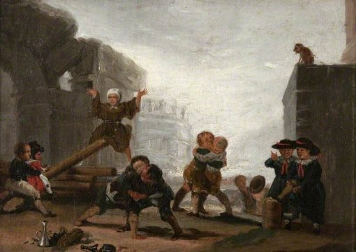 Boys Playing at See-Saw   Francisco de Goya y Lucientes   Oil Painting