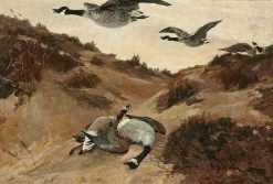 Wild Geese in Flight | Winslow Homer | Oil Painting