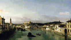 View of Verona from the Ponte Nuovo | Bernardo Bellotto | Oil Painting