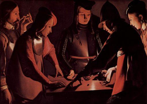 The Dice-Players   Georges de La Tour   Oil Painting