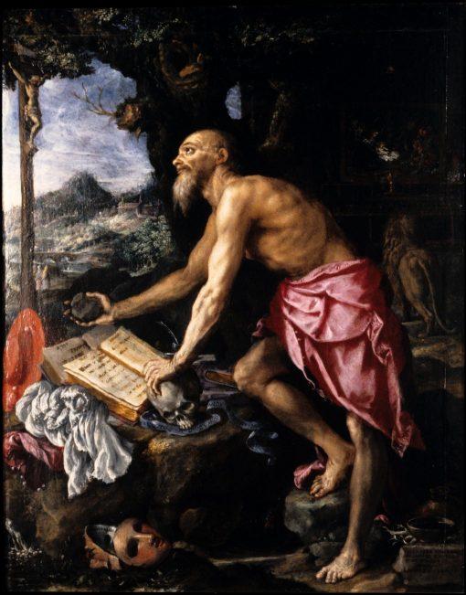 The Penitent Saint Jerome | Alessandro Allori | Oil Painting