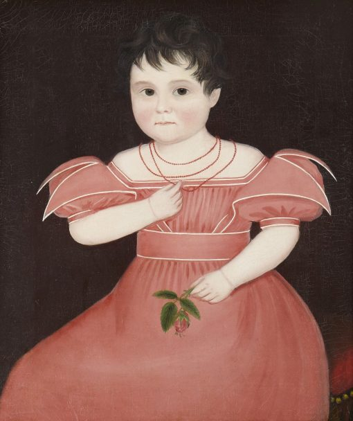 Girl in Pink   Ammi Phillips   Oil Painting