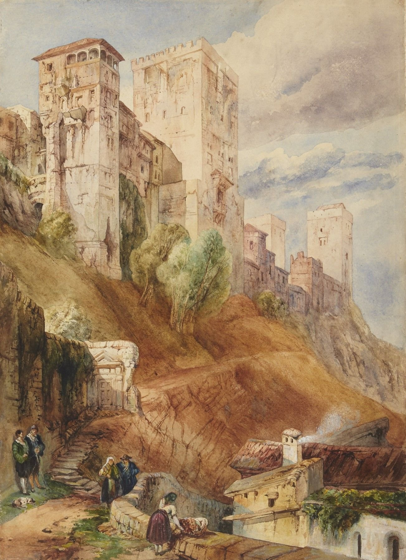 Fortress of the Alhambra | David Roberts | Oil Painting