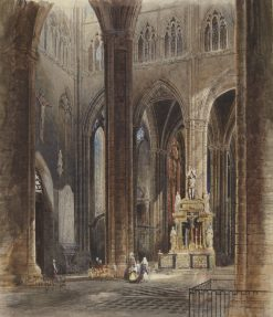 Interior of Amiens Cathedral | David Roberts | Oil Painting