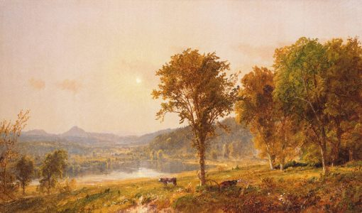 Brimstone and Sugar Loaf Mountains from Warwick | Jasper Francis Cropsey | Oil Painting