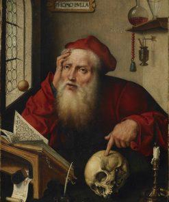 Saint Jerome in His Study | Joos van Cleve | Oil Painting
