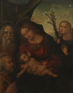 Holy Family with Gabriel and a Prophet | Liberali di Jacomo da Verona | Oil Painting
