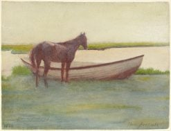 Horse and Boat | Thomas P. Anshutz | Oil Painting