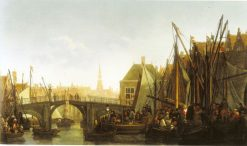 Dordrecht with the Apple Market and the Oude Haven | Abraham van Calraet | Oil Painting