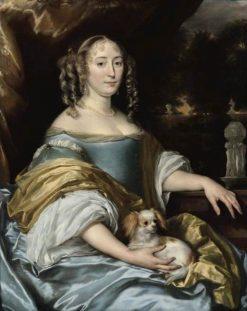 Portrait of Jacquemijna Le Pla | Abraham van den Tempel | Oil Painting