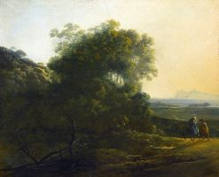 The Flight into Egypt   Adam Pynacker   Oil Painting