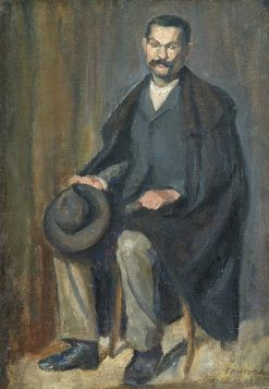 Portrait of a Man   Adolf FEnyes   Oil Painting