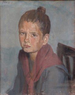 Portrait de jeune fille   Adolf FEnyes   Oil Painting