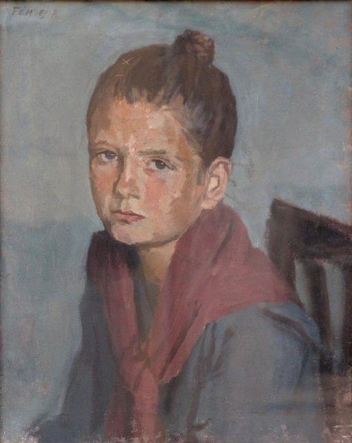 Portrait de jeune fille | Adolf FEnyes | Oil Painting