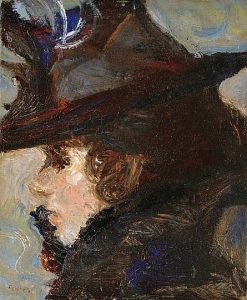Lady in a Hat | Adolf FEnyes | Oil Painting