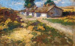 Farmhouse   Adolf FEnyes   Oil Painting