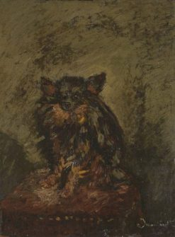 Dog on a Chair | Adolphe Joseph Thomas Monticelli | Oil Painting