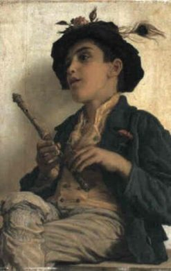 The Shepherd Boy(also known as Il pastorello) | Adriano Bonifazi | Oil Painting