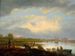 River Landscape with Cattle | Aelbert Cuyp | Oil Painting
