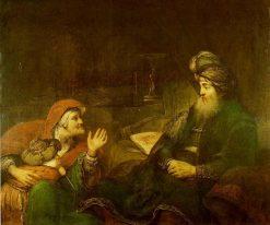 Sarah Asks Abraham to Dismiss Hagar | Aert de Gelder | Oil Painting