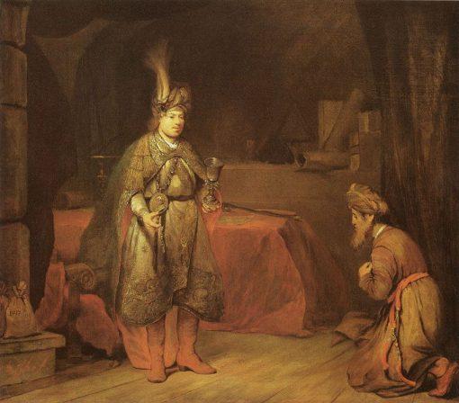 Judah Persuades Jacob to Consent to the Departure of Benjamin   Aert de Gelder   Oil Painting