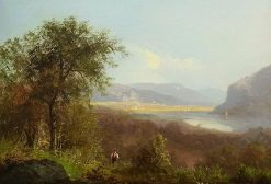 Hudson River Scene with Figure | Albert Bierstadt | Oil Painting