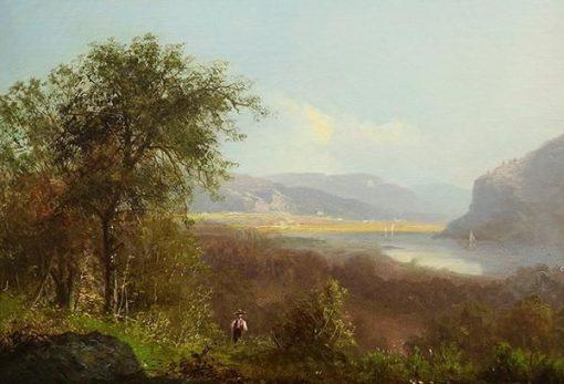 Hudson River Scene with Figure | Albert Bierstadt | Oil Painting