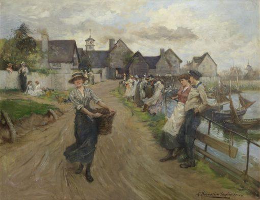 On the Promenade | Albert Chevallier Tayler | Oil Painting