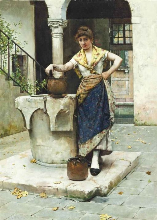 At the Well | Albert Chevallier Tayler | Oil Painting