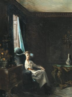 Portrait of a Woman in a Drawing Room | Albert Chevallier Tayler | Oil Painting