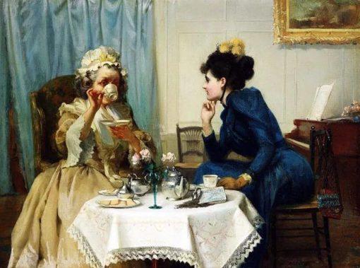 Teatime   Albert Chevallier Tayler   Oil Painting