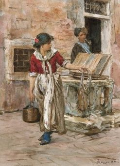 The Well(also known as Il pozzo) | Alessandro Zezzos | Oil Painting