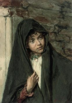 A Curious Glance | Alessandro Zezzos | Oil Painting