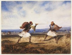 Albanian Duel | Alexandre Gabriel Decamps | Oil Painting