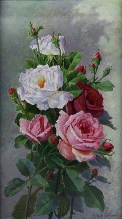 Still Life of Roses | Alice B. Chittenden | Oil Painting