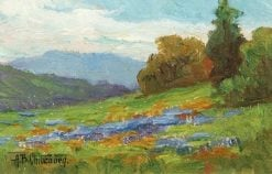California Landscape with Poppies and Lupine | Alice B. Chittenden | Oil Painting