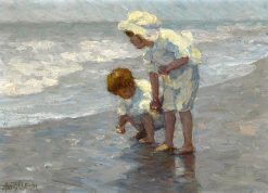 Children on the Seashore | Alice B. Chittenden | Oil Painting