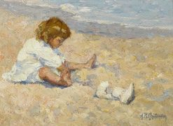 A Day on the Beach | Alice B. Chittenden | Oil Painting