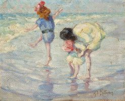 Figures at the Seashore | Alice B. Chittenden | Oil Painting