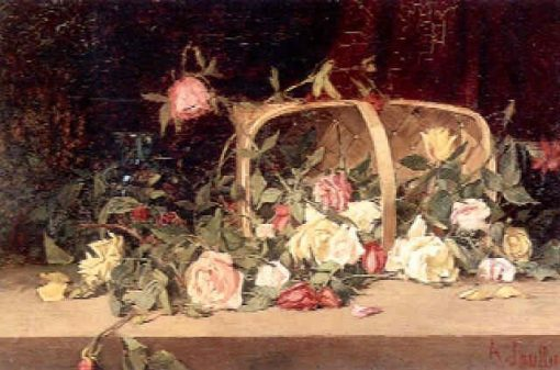 Basket of Mixed Roses | AmEdEe Joullin | Oil Painting