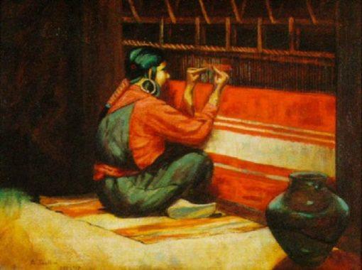 The Weaver | AmEdEe Joullin | Oil Painting