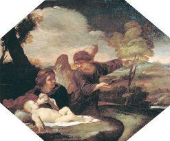 Hagar and Ishmael | Andrea Sacchi | Oil Painting