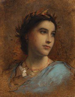 Mit Lorbeer bekröntes Frauenbildnis | Anselm Feuerbach | Oil Painting