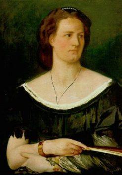 Bildnis einer Dame mit Facher | Anselm Feuerbach | Oil Painting