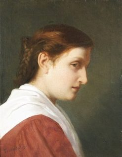 Portrait of Young Woman | Anselm Feuerbach | Oil Painting