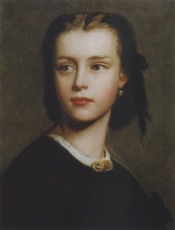 Bildnis eines Madchens   Anselm Feuerbach   Oil Painting
