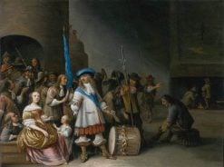 Interior of a Guardroom   Anthonie Palamedesz   Oil Painting